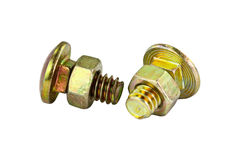 Various views of the bolt and nut. Royalty Free Stock Photography
