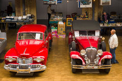 Various vintage cars Royalty Free Stock Image