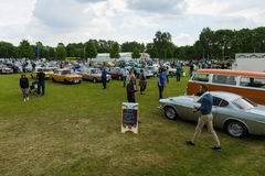 Various vintage cars, on the exhibition field. Stock Photography