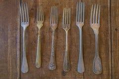 Various of vintage forks Stock Images