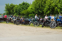 Various vintage motorcycles Royalty Free Stock Images