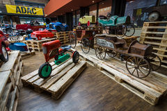 Various of vintage pedal cars. Royalty Free Stock Photo
