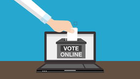 Various vote hand to internet online stock video footage