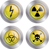 Various warning signs Royalty Free Stock Images
