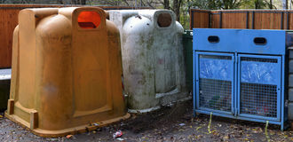 Various waste bins Stock Photography