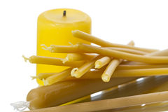 Various Wax Candles Stock Images