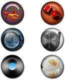 Various Web Buttons Stock Photo