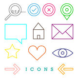 Various web icons Royalty Free Stock Image