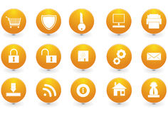 Various website icons. Vector illustration of different website icons royalty free illustration