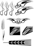 Various Wheat icons Royalty Free Stock Image