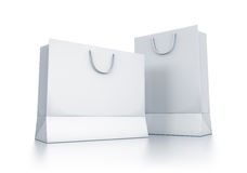 Various white bags. Royalty Free Stock Photos