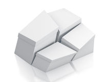 Various white boxes. Stock Images
