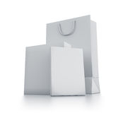 Various white boxes. Royalty Free Stock Photo