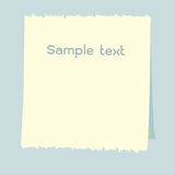 Various white note paper Royalty Free Stock Images