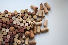 Wine corks abstract background stock image