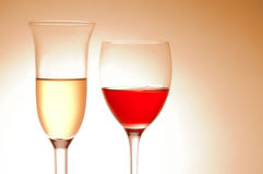 Various wine glasses Royalty Free Stock Photos
