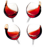 Various wine splashes Stock Photo