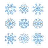 Various winter snowflakes set Stock Photography