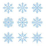 Various winter snowflakes set Stock Image