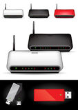 Various wireless modems Royalty Free Stock Images