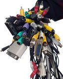 Various wires for electronic devices Stock Photography
