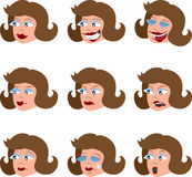 Various Woman's Facial Expressions Stock Photos