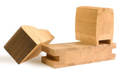 Various wood billets for furniture Stock Photo