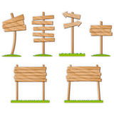 Various wood signals Stock Photo