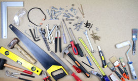 Various work tools. Close up image Royalty Free Stock Photography