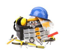 Various Working Equipment. Royalty Free Stock Image