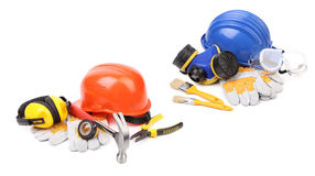 Various working equipment collage. Stock Image