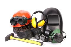 Various working equipment. Royalty Free Stock Photos