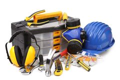 Various working equipment. Royalty Free Stock Photo