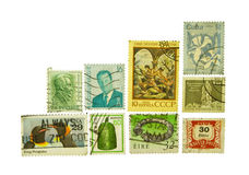 Various world stamps Stock Image