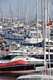 Various yachts in Istanbul Pendik Marina. The many boats of the marina in Istanbul, Turkey stock photo