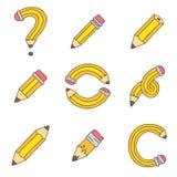 Various yellow pencil Stock Photo