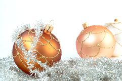 Variously coloured Christmas decorations Stock Photos