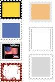 Variété de descripteurs d'estampille Images stock