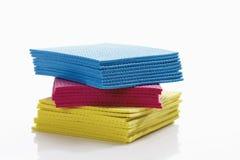 Variété de tissu d'éponge Photo stock