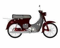 Varit nedstämd sparkcykel - 3D framför royaltyfri illustrationer