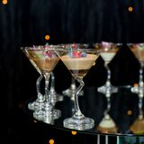 Varity of fancy panna cotta Stock Images