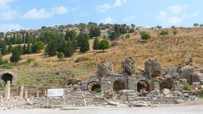 The Varius Baths of Ephesus. Royalty Free Stock Photography
