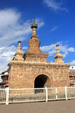 Varja pagod i Guandu den forntida staden, Kunming, Kina Royaltyfri Bild
