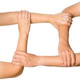 varje hands holdinghumanen annan Arkivfoton