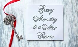 Varje måndag är en ny möjlighet Royaltyfria Bilder