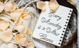 Varje måndag är en ny möjlighet Arkivbild