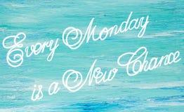 Varje måndag är ett nytt Royaltyfria Foton