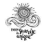 Varje soluppgång är unik Arkivbilder