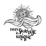 Varje soluppgång är unik Royaltyfri Foto