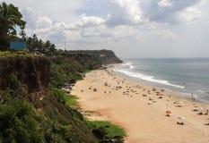Varkala海滩喀拉拉印度 免版税库存图片